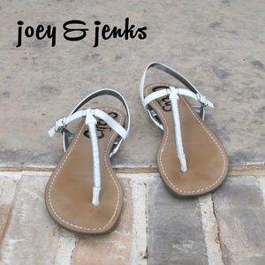 Sam Edelman Sandals White Silver Wrapped Strap 8.5